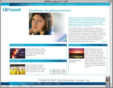 Basell - Website Design-Studie
